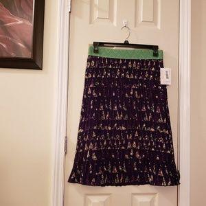 Lularoe multicolored  pleated skirt